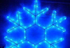 Светодиодная фигура «Снежинка» 61х51см (синяя)